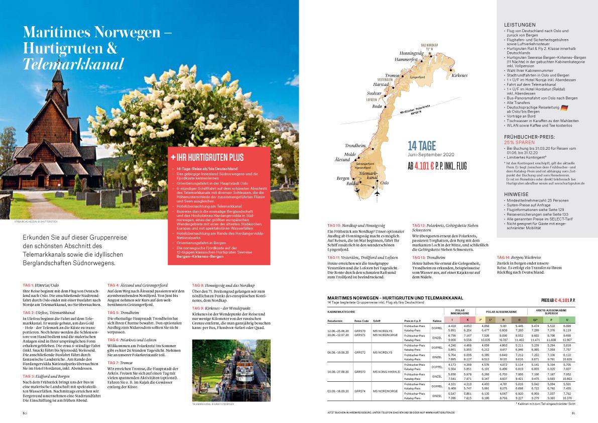 Norwegen-Hurtigruten-Telemarkkanal