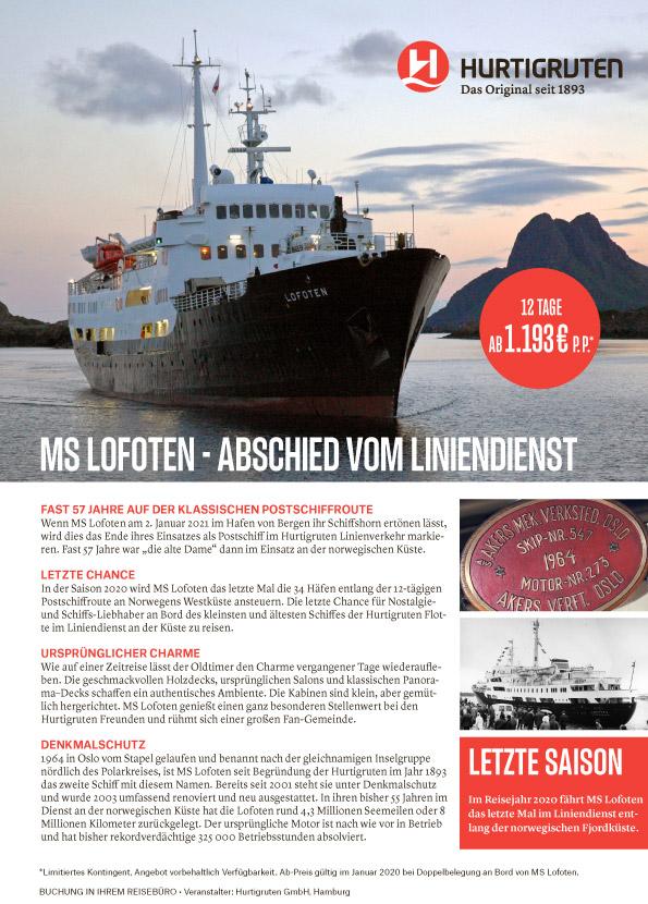 MS Lofoten Hurtigruten Postschiffreise