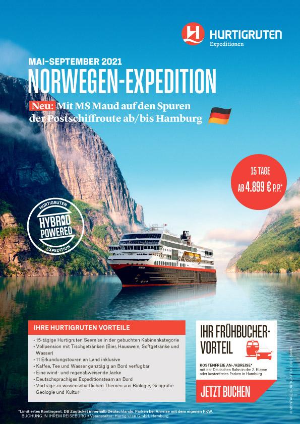 Norwegen-Expedition mit MS Maud