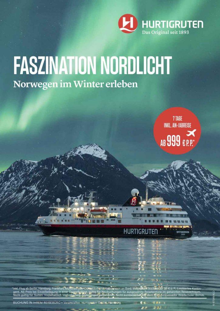 Hurtigruten Polarlicht Norwegen Angebot