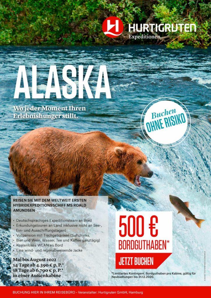 Hurtigruten Angebote: Alaska 2022