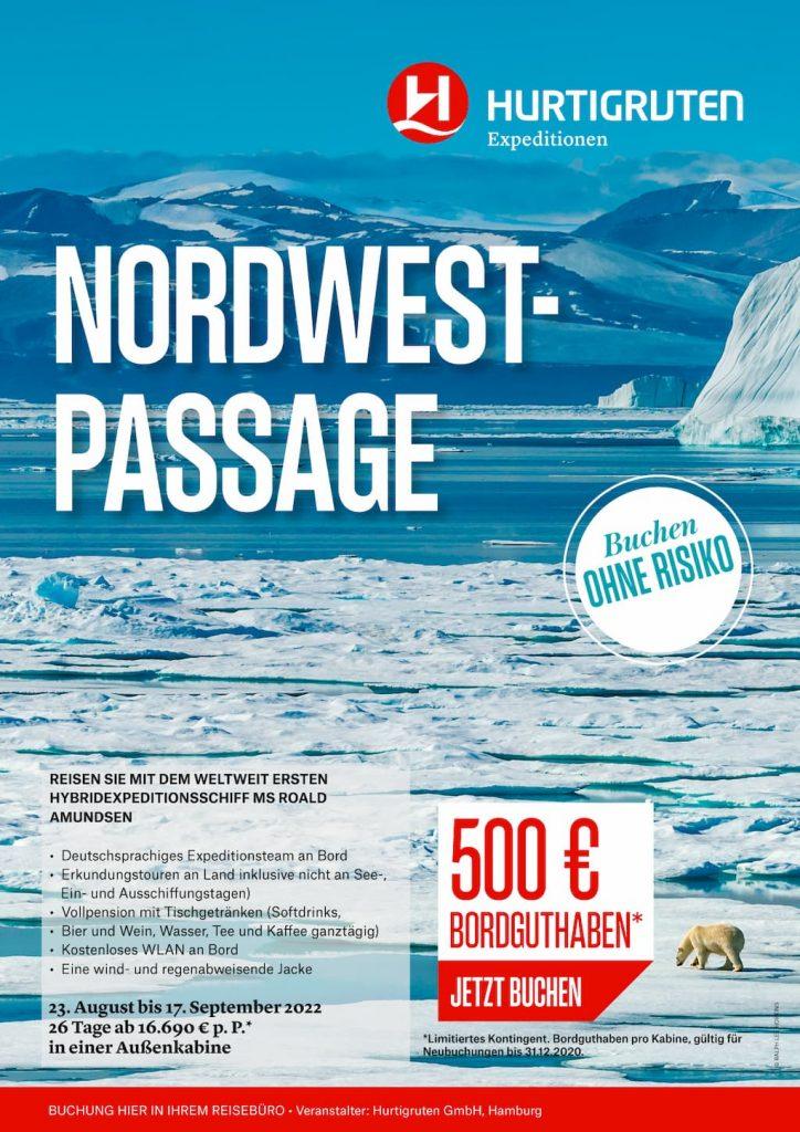 Hurtigruten Angebote: Nordwest-Passage 2022