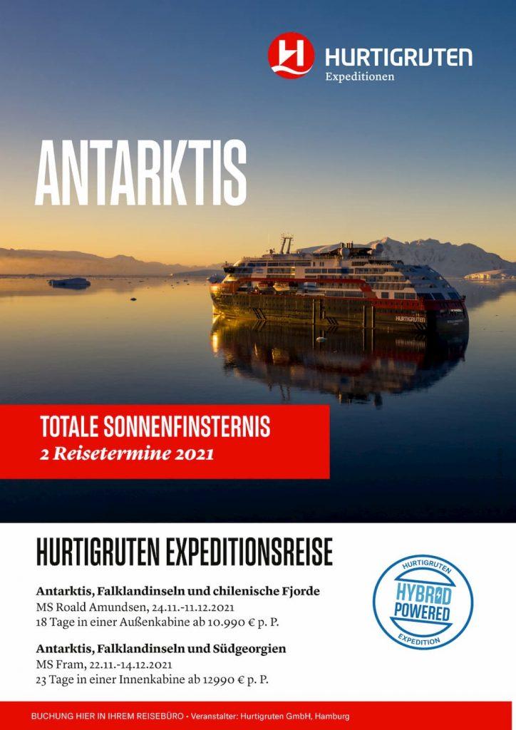 Hurtigruten Angebote: Südamerika Sonnenfinsternis 2021