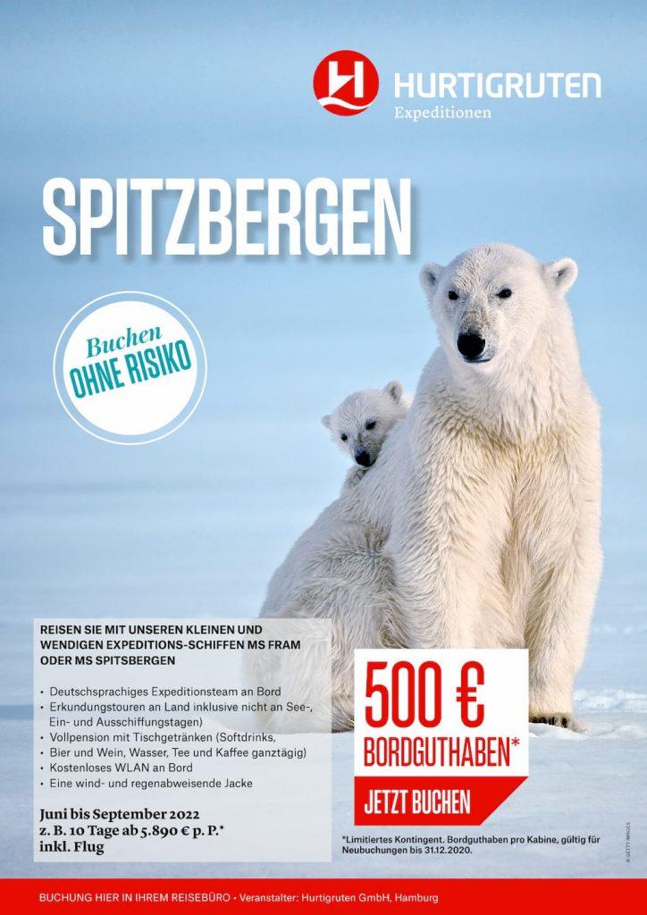 Hurtigruten Angebote: Spitzbergen 2022