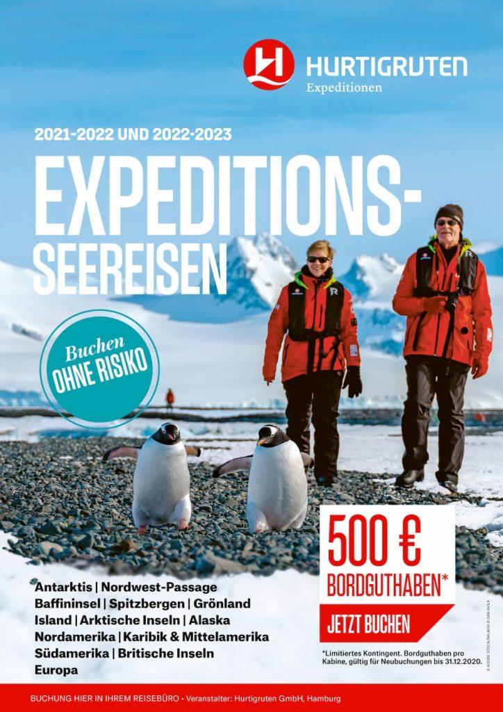 Hurtigruten Angebote: Expeditions Seereisen 2021-2022 / 2022-2023
