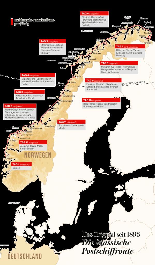 Hurtigruten Angebote: Klassische Postschiffroute 2021-2022