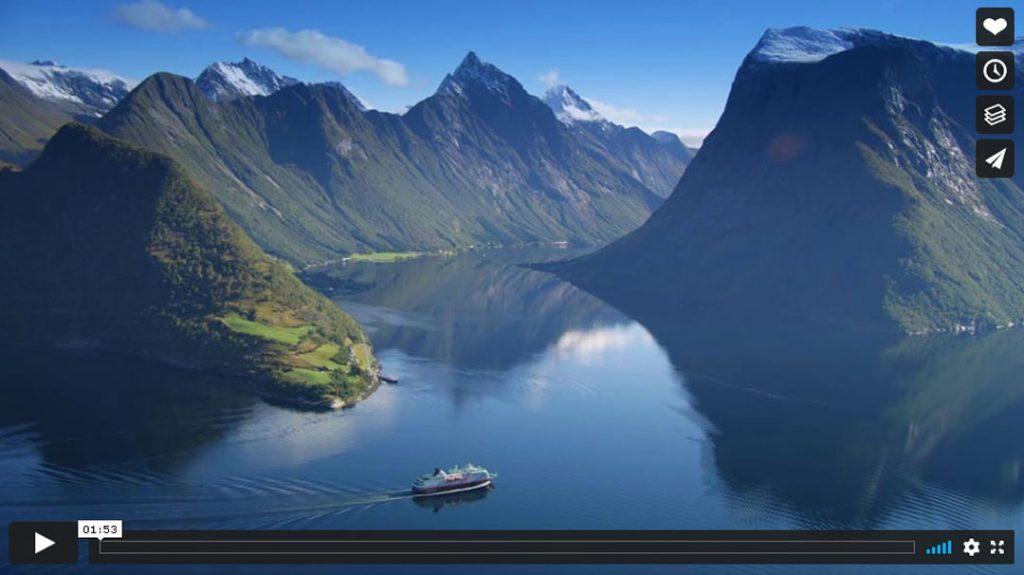 Hurtigruten beste Reisezeit Herbst Vimeo-Video Vorschau