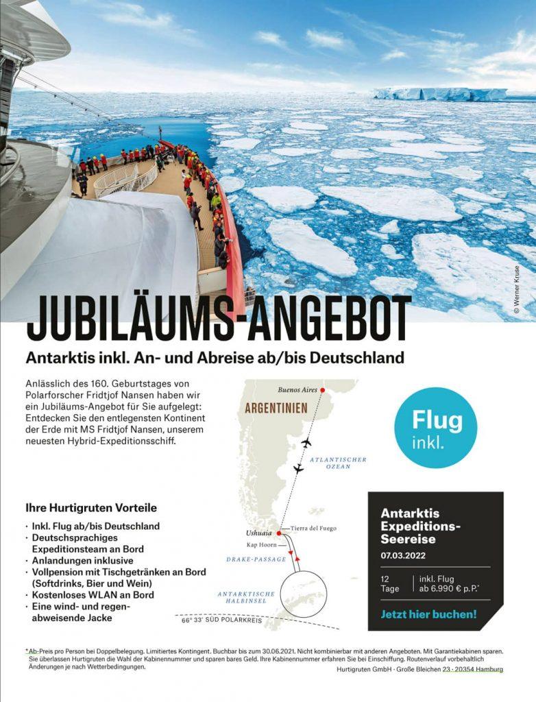Hurtigruten Angebote Antarktis MS Fridtjof Nansen